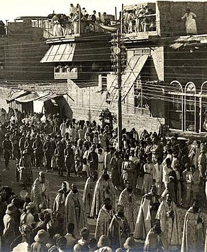 Christianity in Iraq - Celebration of Corpus Christi in Iraq, 1920, attended by Assyrians and Armenians.