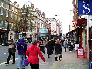 street in the Marylebone district of the City of Westminster in London