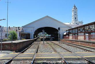 Ballarat railway station - Station building, looking east in 2011