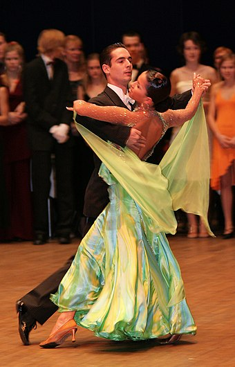 A ballroom dance exhibition Ballroom dance exhibition.jpg
