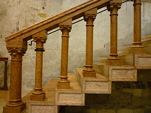 Baluster - Stone balusters in the Basilica of San Zeno, Verona