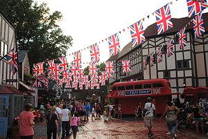 Busch Gardens Williamsburg - 2014 Street View of Banbury Cross, England