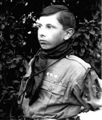 Stepan Bandera - Young Stepan Bandera in the Plast uniform, 1923.