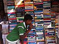 Bangalore India Tech books for sale (kid got in the shot) IMG 5255.jpg