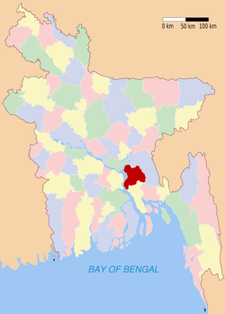 Location of Chandpur in Bangladesh