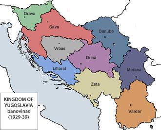 Yugoslavia - Image: Banovine Jugoslavia