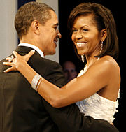 Great Barack And Michelle Obama Dance Arm In Arm And Smile. She Wears A Regarding Michelle Obama Resume