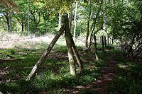 Barbed wire fence Hatfield Forest Essex England 1.jpg
