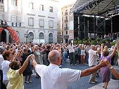 Barcellona sardana dance