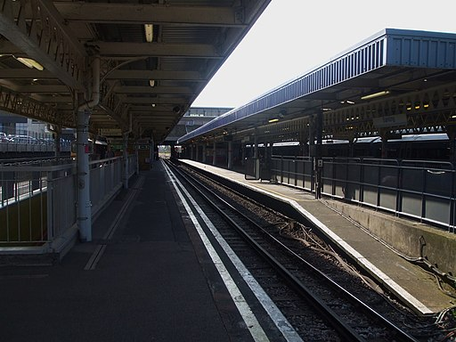 Barking station District eastbound look east