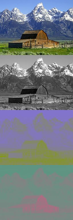 Barns grand tetons YCbCr separation