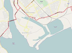Port of Barrow - A map of the port of Barrow