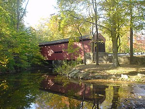 Bartram's Covered Bridge - Bartram's Covered Bridge, October 2009