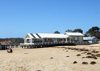 SeaChange - The Barwon Heads boatshed, used as Diver Dan's home, circa 2007.