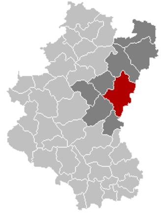 Bastogne - Image: Bastogne Luxembourg Belgium Map