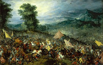 Battle of Gaugamela - The Battle of Gaugamela. Jan Brueghel the Elder, 1602.