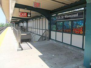 Beach 25th Street (IND Rockaway Line) - Image: Beach 25th Street Platform