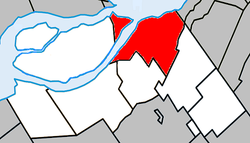 Location within Beauharnois-Salaberry RCM