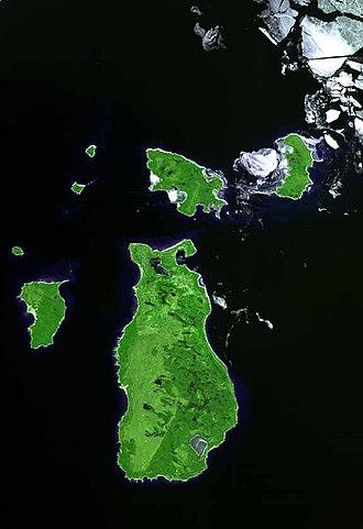 Beaver Island (Lake Michigan) - Beaver Island, as seen from space