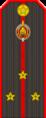 Belarus Police—08 Senior Lieutenant rank insignia (Gunmetal).png