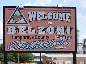 Belzoni, Mississippi - Image: Belzoni MS Welcome Sign