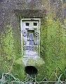 Bench mark on the pillar - geograph.org.uk - 1730830.jpg