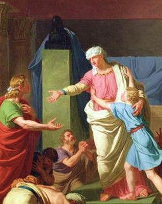 Benjamin - Benjamin (right) embracing his brother Joseph.