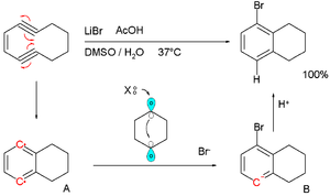 Bergman cyclization - Bergman cyclization with capture by lithium bromide