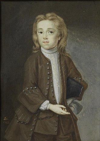 Bernard Lens III - 1723 portrait of the artist's son, Andrew Benjamin Lens, by Bernard Lens III (Victoria and Albert Museum, P.40-1922).
