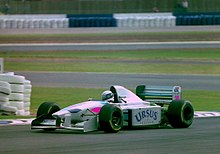 Bertrand Gachot - Pacific PR01 at the 1994 British Grand Prix (32418697731).jpg