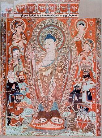 Albert von Le Coq - Image: Bezeklik caves, Pranidhi scene 14, temple 9