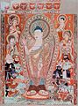 Bezeklik caves, Pranidhi scene 14, temple 9.JPG