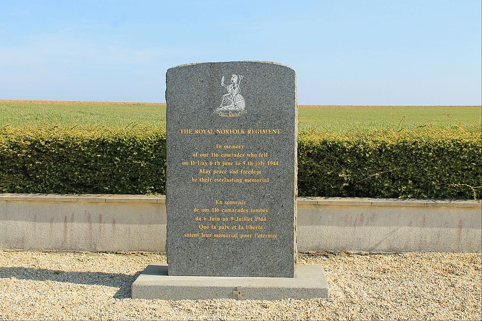 Biéville-Beuville monument Royal Norfolk Regiment
