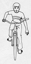 100px Bicycle hand signal stop USA - Sygnalizowanie zmiany kierunku jazdy na rowerze - jak dokładnie to działa?
