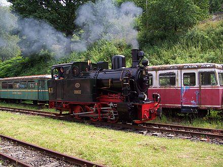 Erhaltene Lokomotive der ehemaligen Biebertalbahn