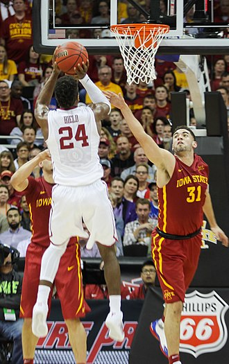 Buddy Hield - Hield shooting against Iowa State in the 2016 Big 12 Tournament