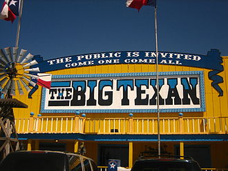 The Big Texan Steak Ranch - Close-up of entrance to Big Texan Steak Ranch