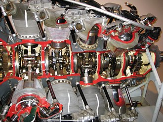 Pratt & Whitney R-4360 Wasp Major - Image: Biggest rotary cutaway