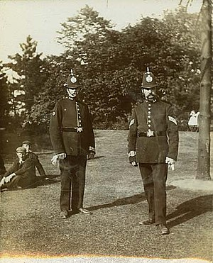 Birmingham Parks Police - A photograph of officers of the Parks Police, taken between c. 1900 and 1910.