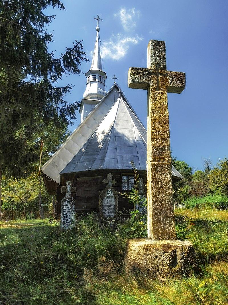 Biserica de lamn tisa halmagiu arad romania.JPG