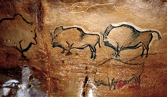 Cave of Altamira and Paleolithic Cave Art of Northern Spain - Image: Bisontes de La Covaciella (España)