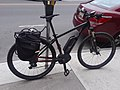 Black Bosch Performance Line eBike downtown Montpelier VT August 2018.jpg