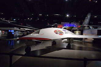Joint Unmanned Combat Air Systems - Boeing X-45 at the National Museum of the United States Air Force