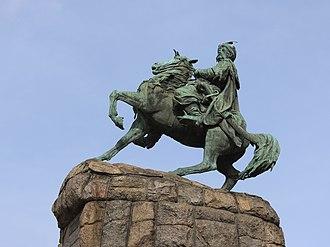 Bohdan Khmelnytsky Monument, Kiev - Image: Bohdan Khmelnytsky Kiev 2017 G1