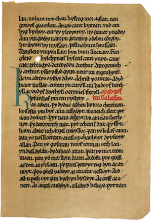 Book of Taliesin - facsimile, folio 13