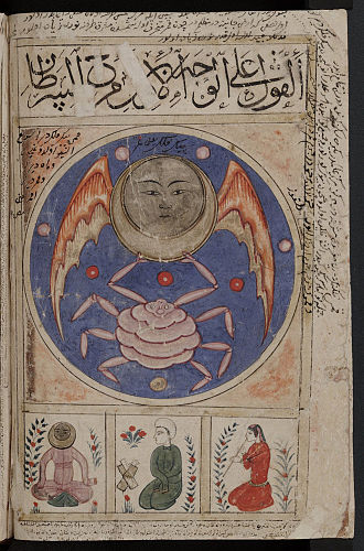 Book of Wonders - Cancer or al-Saratan, one of the signs of the Zodiac depicted in the book
