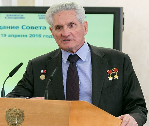 Cosmonaut Boris Volynov, 2016 photo from the Council of the Russian Federation's Federal Assembly Source: Wikipedia 570px-Boris_Volynov_2016.jpg