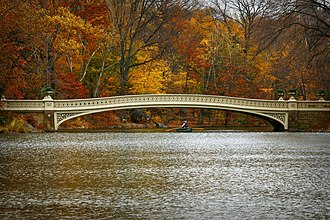 Central Park - The Bow Bridge, one of 36 bridges in the park. No two bridges in the park are alike.