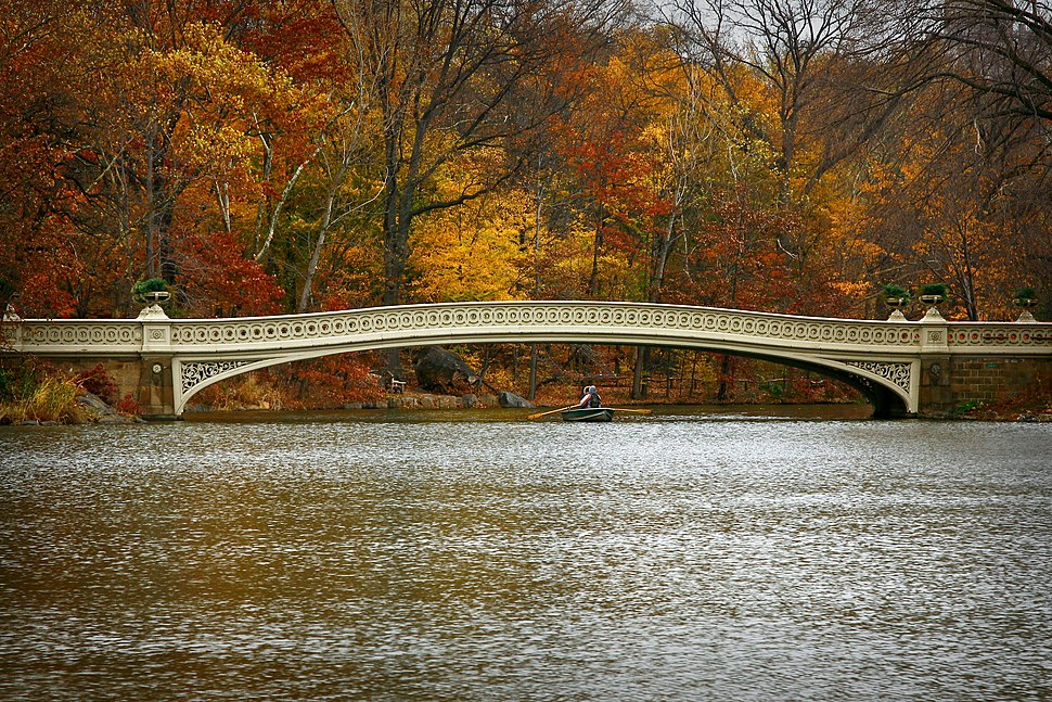 Bow Bridge in Central Park on Thanksgiving 2010