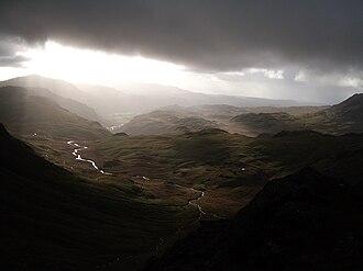 Bowfell - Image: Bowfell summit towards Eskdale